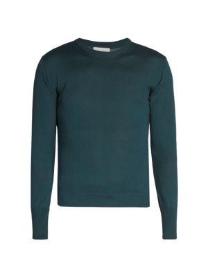Nina Check Virgin Wool Sweater