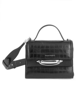 The Story Croc-Embossed Leather Satchel
