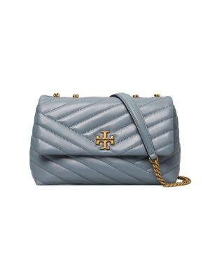 Small Kira Chevron Leather Shoulder Bag