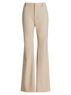 HIgh-Rise Wool-Blend Trousers