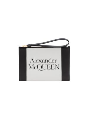 Signature Leather Zip Pouch