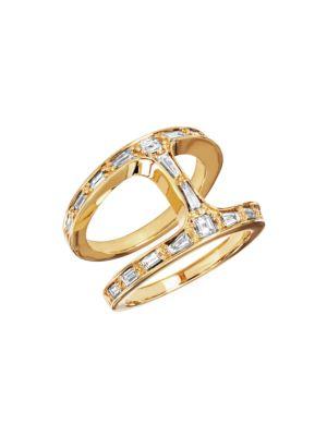 Dame Phantom 18K Yellow Gold & Diamond Baguette Ring
