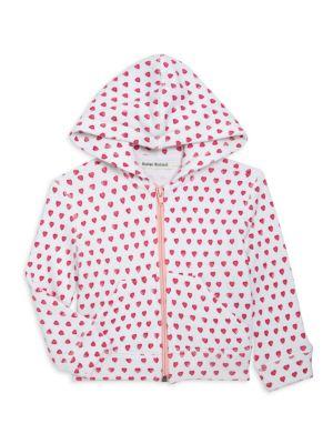 Little Girl's & Girl's Heart-Printed Zip-Front Hoodie
