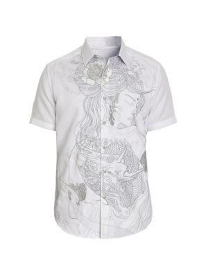 Classic-Fit Eastern Beauty Short-Sleeve Shirt