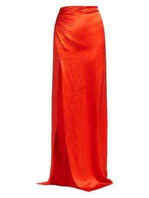 Kaitlyn Satin Maxi Skirt