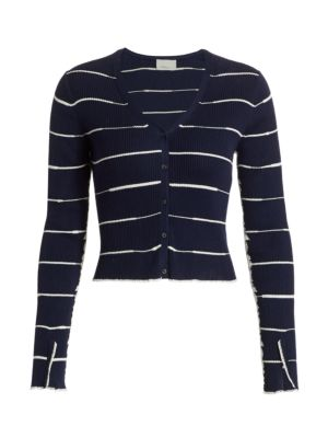 Cropped Wool Blend Cardigan
