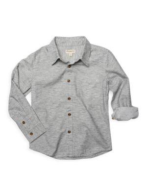Little Boy's & Boy's Bates Tiny Stripe Shirt