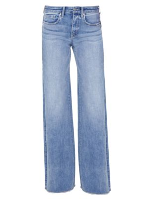 Teresa High-Rise Frayed Wide Jeans