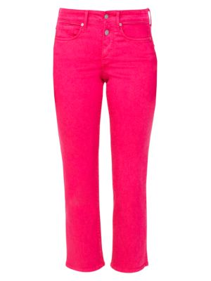 Marilyn Mid-Rise Straight Leg Ankle Jeans