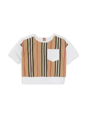 Baby's & Little Girl's Icon Stripe Mix T-Shirt