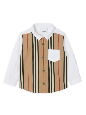 Baby's & Little Boy's Mini Ledger Collared Shirt