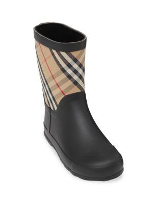 Little Girl's & Girl's Ranmoor Check Rain Boots
