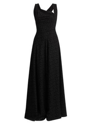 Asymmetric Sleeveless Gown