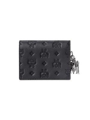 Mini Klara Monogram Leather Wallet-On-Chain