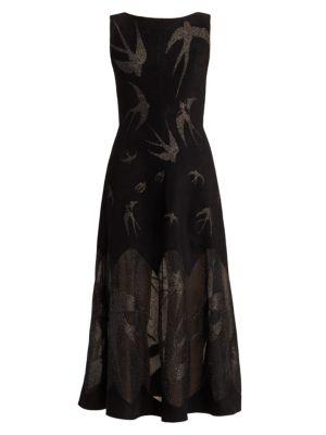 Sleeveless Glitter Knit Cocktail Dress