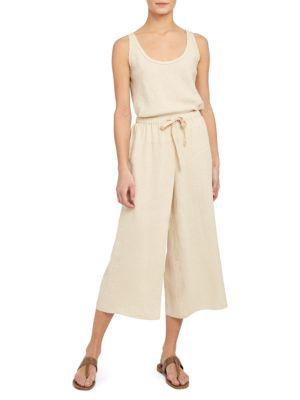 Fluid Pull-On Linen Pants