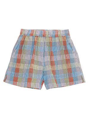 Check Seersucker Shorts