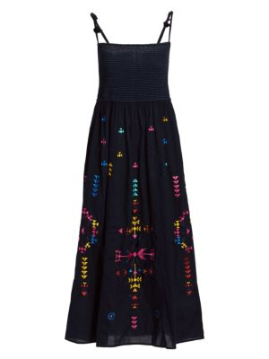 Azalea Tie-Strap Midi Dress