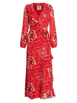Arabella Ruffle Trim Wrap Dress