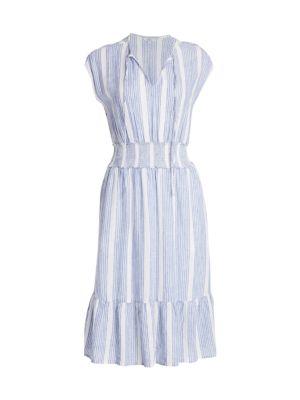 Ashlyn Striped Midi Dress