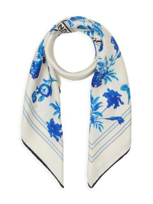 Floral Archive Large Square Scarf