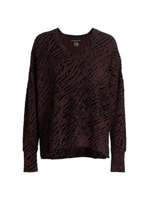 Printed French Terry Pullover