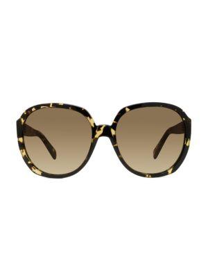 63MM Round Tortoise Sunglasses