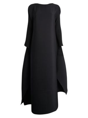 Colorful Bits Pleated Cape Gown