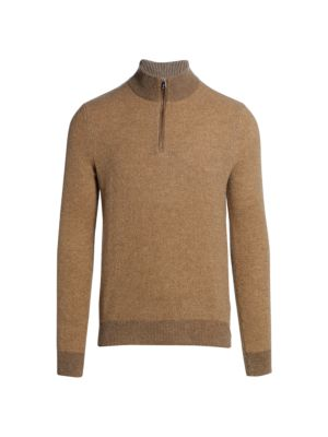Half Zip Cashmere Polo Sweater