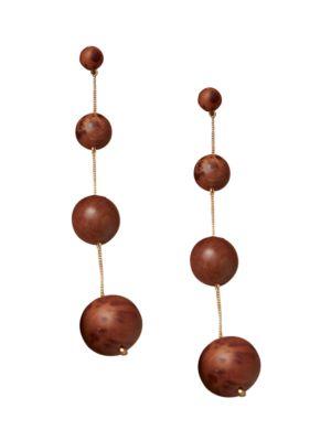 Candace Wood Drop Earrings
