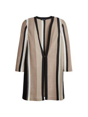 Bold Stripe Knit Jacket