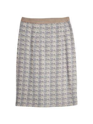 Straight Jacquard Knit Skirt