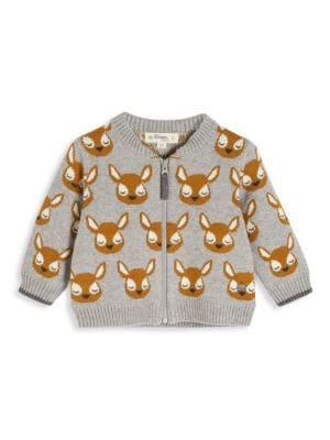 Baby's Deer Jaquard Cardigan