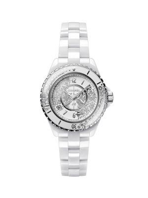 J12 Ceramic, Diamond & Stainless Steel Bracelet Doodle Quartz Watch