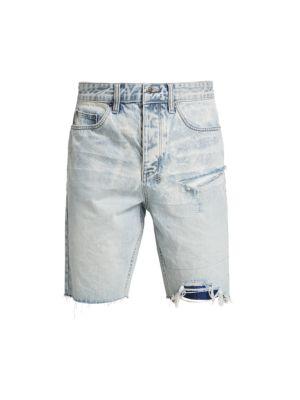 Wolf Frayed Denim Shorts