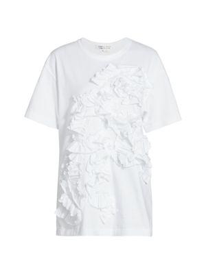 Textured Ruffle T-Shirt