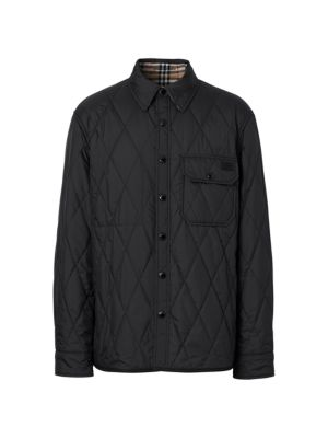 Cresswell Quilted Logo Overcoat