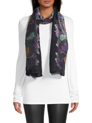 Embroidered Evening Scarf