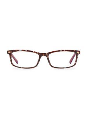 Jodie2 50MM Blue Block Rectangular Eyeglasses