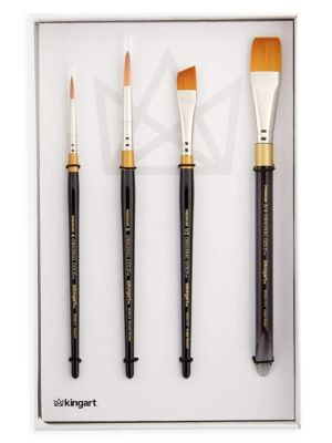 4-Piece Original Gold, Golden Taklon Brush Set