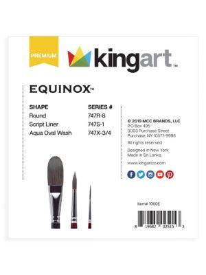 3-Piece Equinox, Black Kazan Synthetic Squirrel Watercolor Brush Set