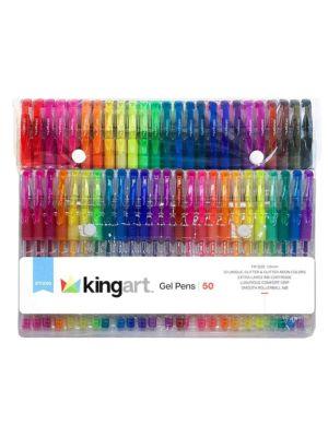 50-Pack Soft Grip Glitter Gel Pens
