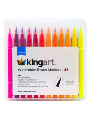 36-Piece. Studio Level Watercolor Brush Market
