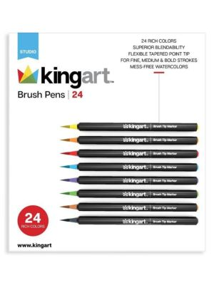 24-Piece Unique Color Real Brush Pens