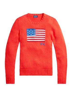 Flag Crewneck Knit Sweater
