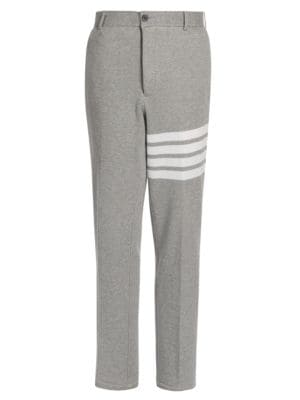 Uncontructed Striped Chino Pants