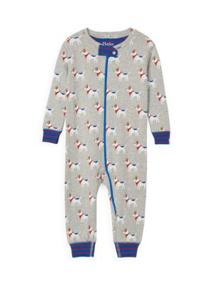 Baby Boy's Cute Pup's Zip Coverall