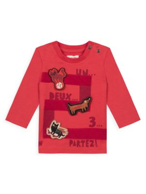 Baby's & Little Boy's Playful Printed Long Sleeve