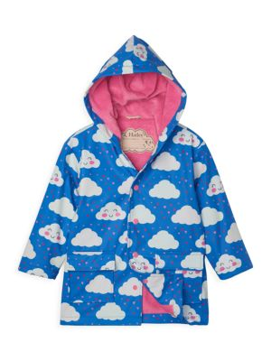 Little Girl's & Girl's Cheerful Cloud Raincoat