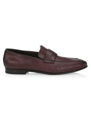 L'Asola Leather Penny Loafers